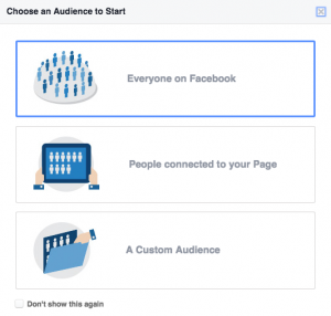 Facebook Insight auditoriya seçimi