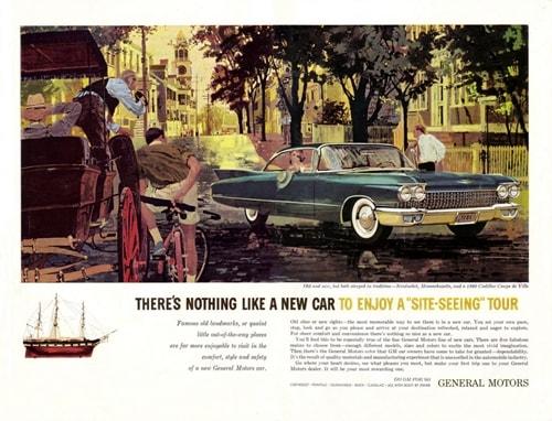 marketinqin tarixi avtomobil reklamı