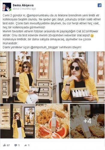influencer marketinq Səma Abıyeva